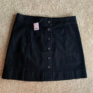 NWT J.Crew Button Front Skirt